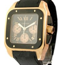 Cartier w2020003 Santos 100 XL - Chronograph in Rose Gold with...