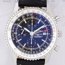 Breitling Navitimer World Chronograph Flieger Stahl B+P Top...
