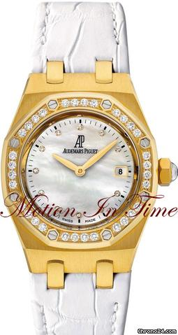 Audemars Piguet ROYAL OAK LADIES YELLOW GOLD DIAMOND &amp;#34;WHITE&amp;#34;