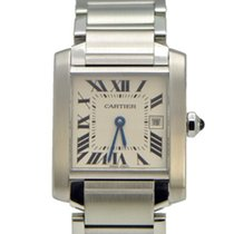 Cartier Tank Francaise Mid-Size with Date - Stainless Steel...