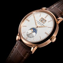 A. Lange & Söhne [NEW] Saxonia Moon Phase Silver Dial...