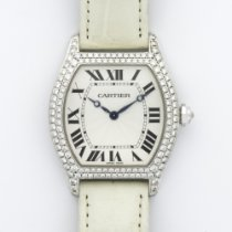 Cartier White Gold Tortue Diamond Watch