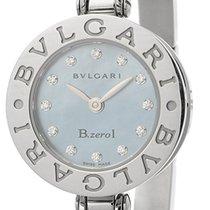 Bulgari B.zero1 Mother of Pearl Dial Stainless Steel Bangle...