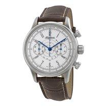 Alpina 130 Pilot Heritage Chronograph Silver Dial Men's Watch