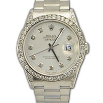 Rolex 16200 Datejust Silver factory diamond Dial