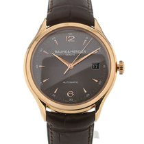 Baume & Mercier Clifton 39 Grey Dial Rose Gold Date