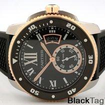 Cartier Calibre de Cartier Black Dial  18k Gold Steel W7100055