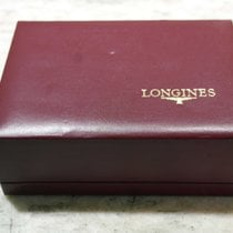 Longines burgundy leather vintage box  logo