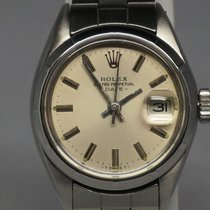 Rolex Vintage Date 6919 Oyster Patina Dial Engine Turn Bezel 26mm