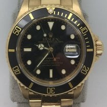 Rolex 16618 Full 18k Yellow Gold Submariner Black Dial and Bezel