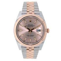 Rolex DATEJUST 41mm Steel & 18K Rose Gold Watch Sundust Dial