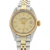 Rolex Ladies Rolex Date 18K YG / SS 6917