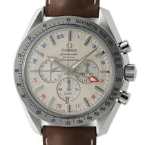 Omega Speedmaster Broad Arrow GMT Chronograph Co-Axial Steel...