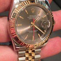 Rolex 18k/ss Turn-o-graph 116263 36mm Jubilee Band Slate Dial...