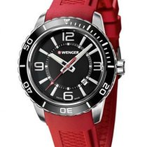 Wenger Mens Roadster - Red Silicone Strap - Black Dial - Date...