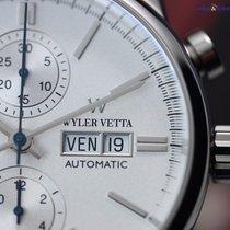Wyler Vetta Chrono Automatic Silver 43mm Men's Watch Steel...