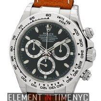 Rolex Daytona 18k White Gold Black Dial 40mm Ref. 116519
