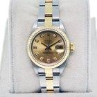 Rolex Datejust 79173 Ladies Two Tone Oyster Bracelet Diamond Dial
