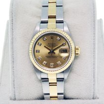 Rolex Datejust 79173 Ladies Two Tone Oyster Bracelet Diamond Dial