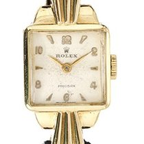 Rolex Precision Vintage Collectible Ladies Watch 8000 18k...