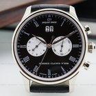 Jaquet-Droz Chronograph Grande Date 18K White Gold Black Dial