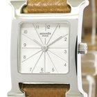 Hermès H Watch Steel Leather Quartz Ladies Watch Hh1.210...