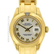 Rolex 18k yellow gold lady Pearlmaster