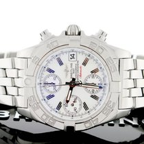 Breitling Chrono Galactic 39MM White Dial Steel Mens Watch...