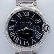 Cartier Ballon Bleu 3765 42mm X-large Automatic Ss Black Dial...