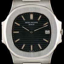 Patek Philippe Stainless Steel Very Rare Black Dial Jumbo...