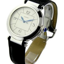 Cartier W3107255 Pasha 42mm in Steel - on Black Leather Strap...