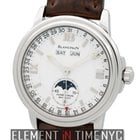 Blancpain Leman  Complete Calendar Moonphase 38mm White Dial...