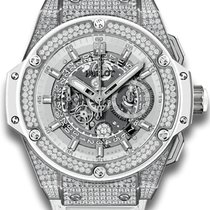 Hublot King Power Unico White Pavé