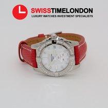 Breitling Galactic 36  MOP diamond dial Diamond Worksl