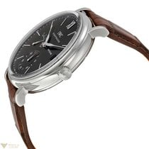 IWC Portofino Hand Wound 8 Days Stainless Steel Black Men'...