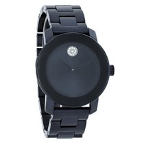 Movado Bold Series Blue PVD Stainless Steel Swiss Quartz Watch...