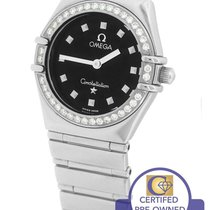 Omega Constellation Mini 22.5mm Black My Choice Diamond Watch