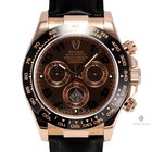 Rolex Daytona Rose Gold Chocolate Brown Dial Tachymeter...