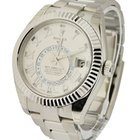 Rolex Used Sky Dweller Oyster 42mm in White Gold with Fluted...
