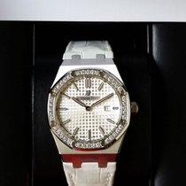 Audemars Piguet 67651ST Royal Oak Lady Silver White Dial...