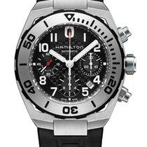 Hamilton Khaki Navy Sub Automatic Chronograph Black Dial T