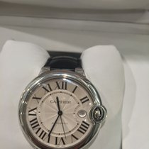 Cartier Ballon Bleu 36mm Stainless Steel On Leather