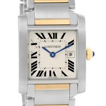 Cartier Tank Francaise Midsize Steel 18k Gold Watch W51012q4...