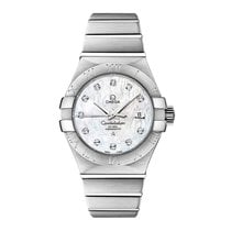 Omega Constellation Steel Mop White 123.10.31.20.55.001 Ladies...