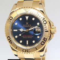 Rolex Yacht-Master 18k Yellow Gold Blue Dial Automatic Mens...