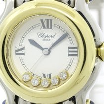 Chopard Polished Chopard Happy Sports Diamond 18k Gold Steel...