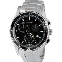 Hamilton Men's H37512131 Jazzmaster Seaview Black Chronogr...