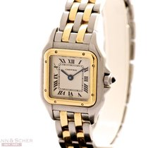 Cartier Panthere Two Stripes 18k Yellow Gold Stainless Steel...