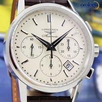 Longines Column-Wheel Chronograph 40mm Steel on Leather Mens...