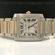 Cartier Tank Franceise Large Ouro e Aço Automatico